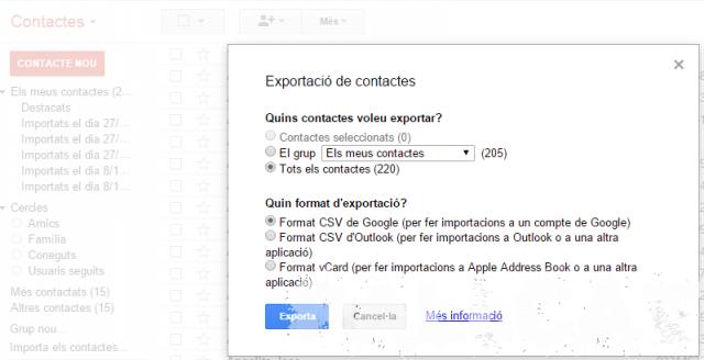 Passar contactes de GMail a Nokia Suite 3.8.54